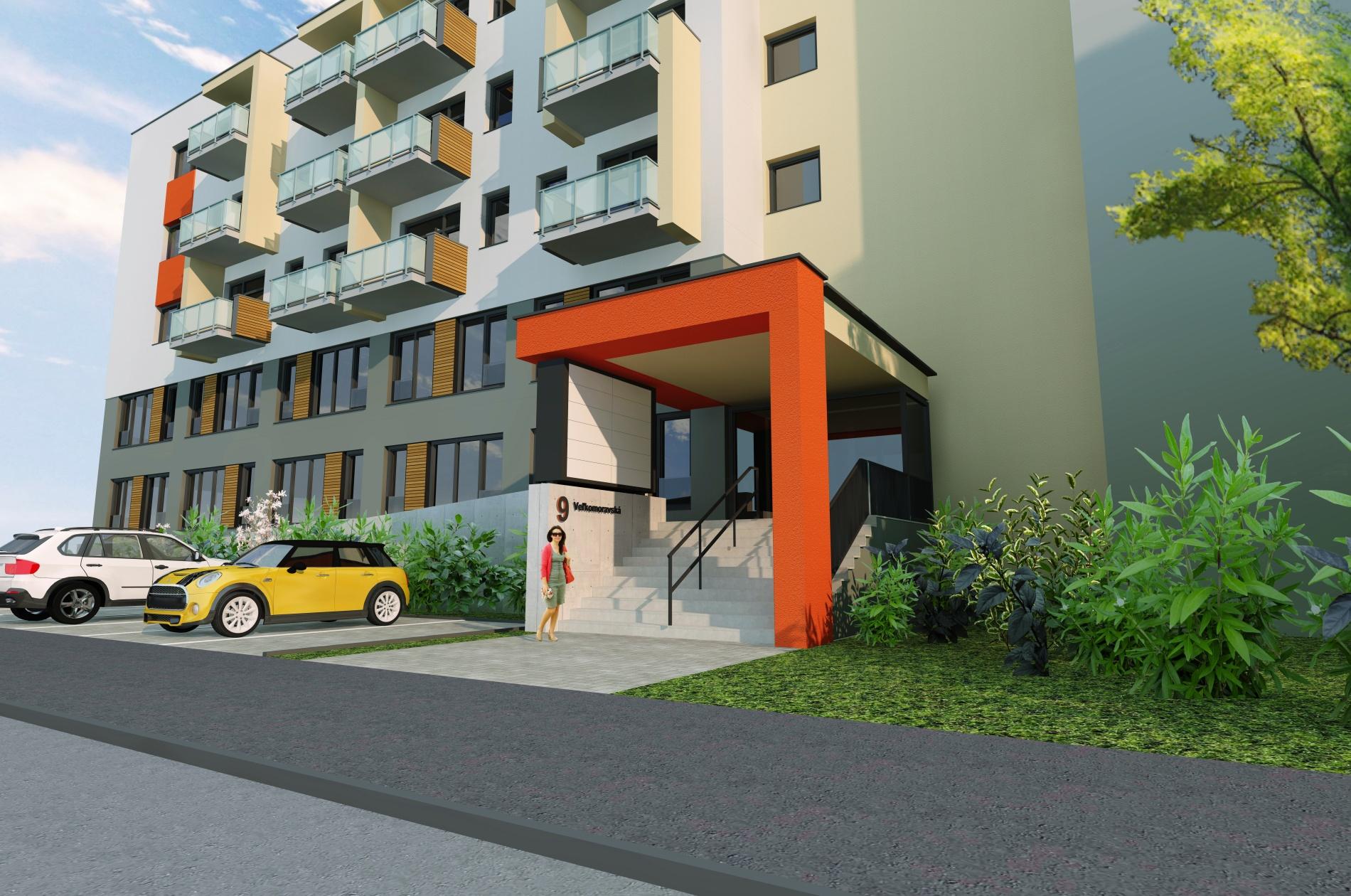 Nové byty v Trenčíne | Bytový dom Veľkomoravská