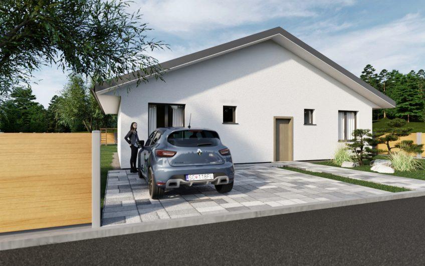 NA PREDAJ |Novopostavený 4 izbový bungalov, pozemok 615m2, Klobušice.
